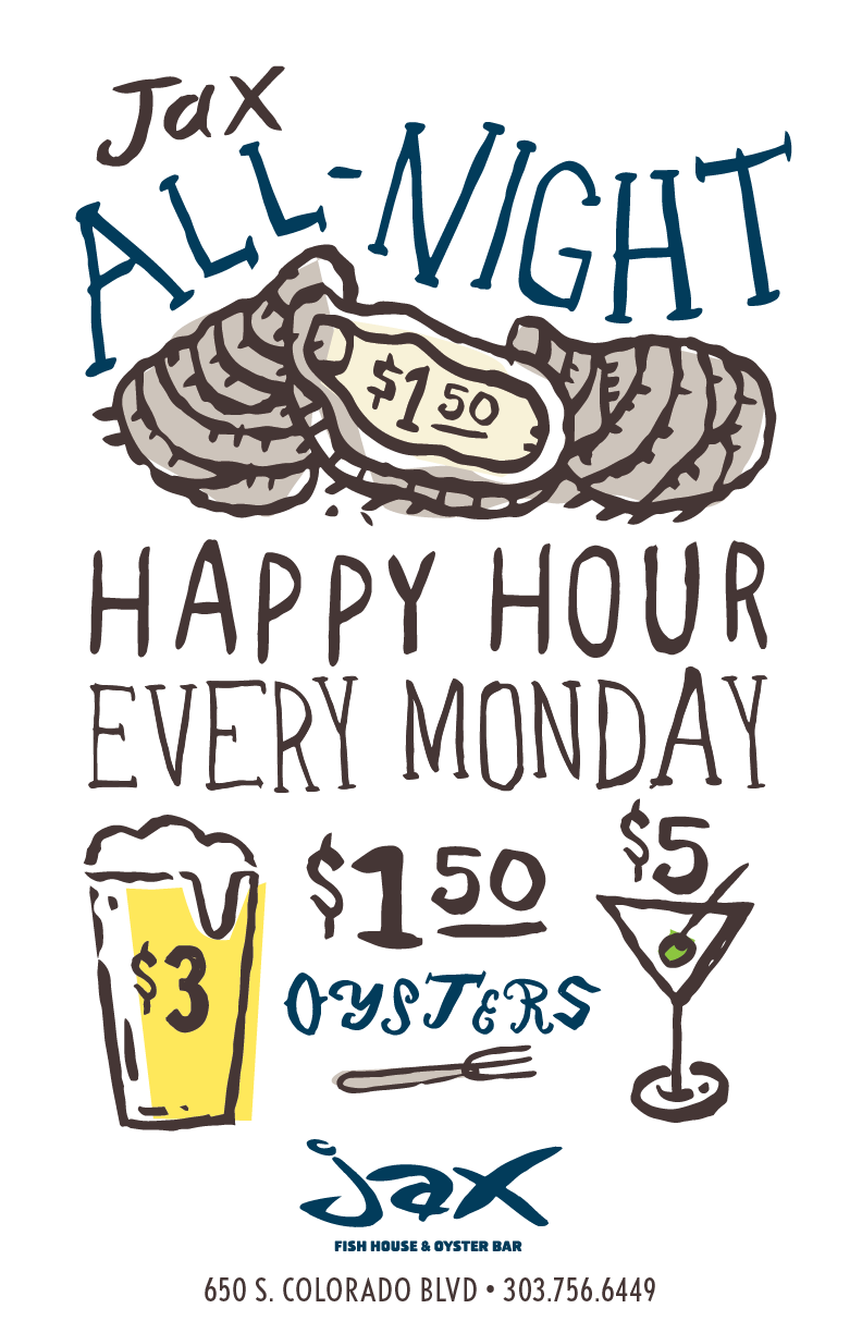 Jax fish house jaxg mondayallnight poster 2016 01 for Big fish happy hour