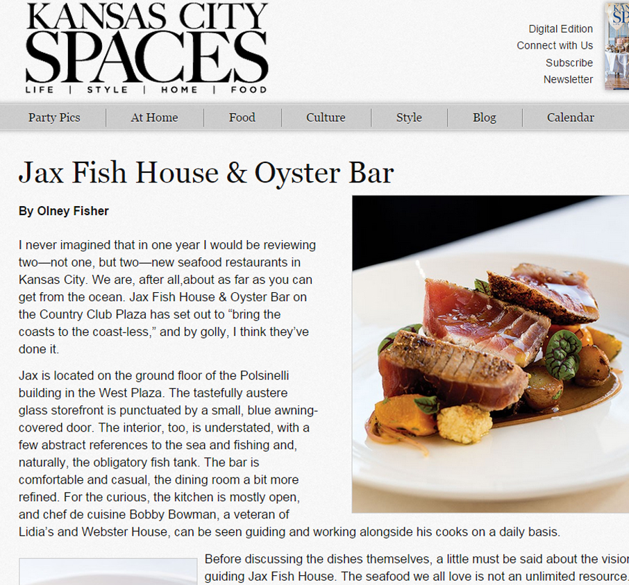 Jax fish house jaxkc kcspaces dec2014 for Jax fish house kansas city