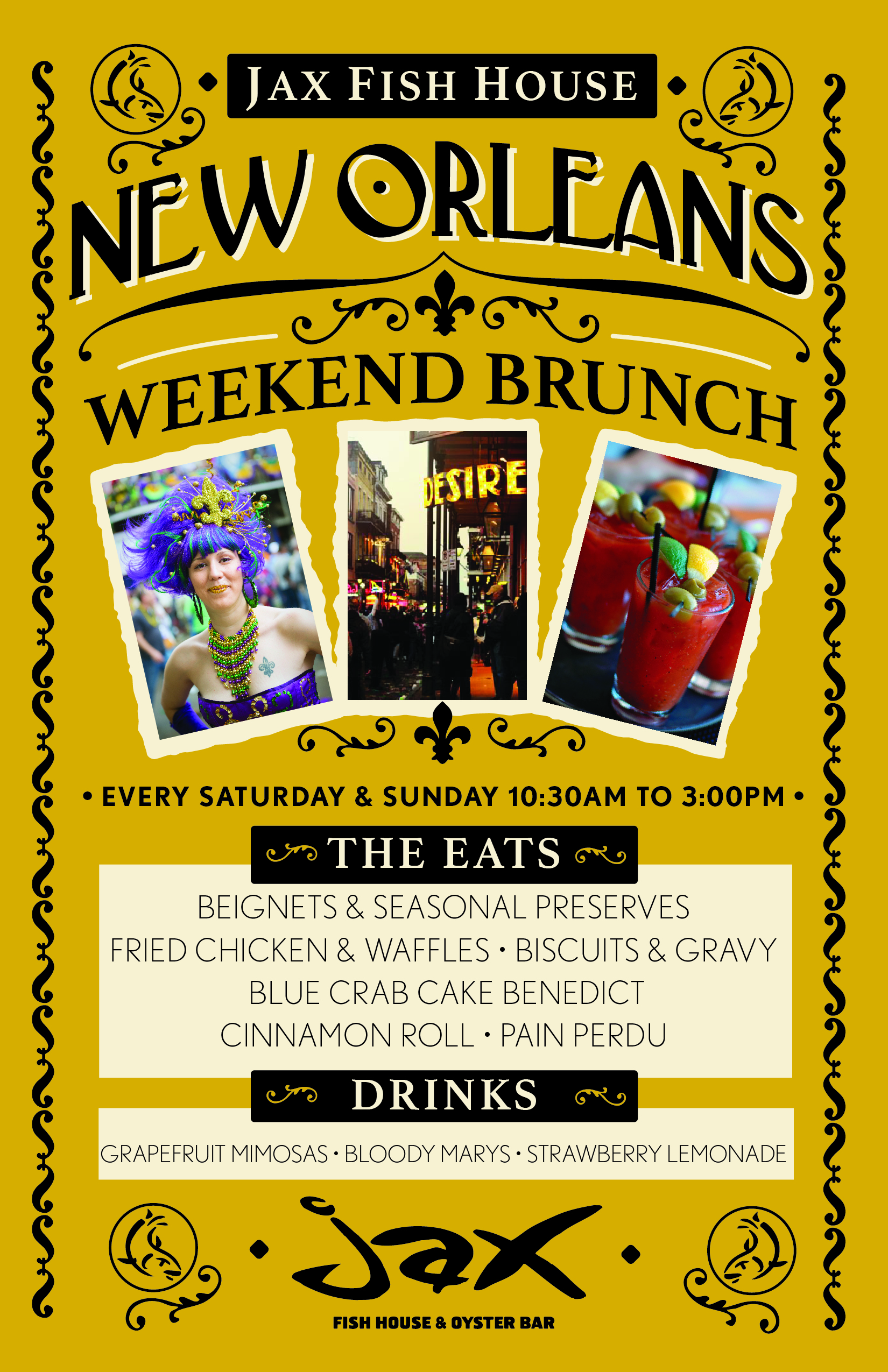 Jax fish house jaxkc nola brunch poster 2016 for Jax fish house kansas city