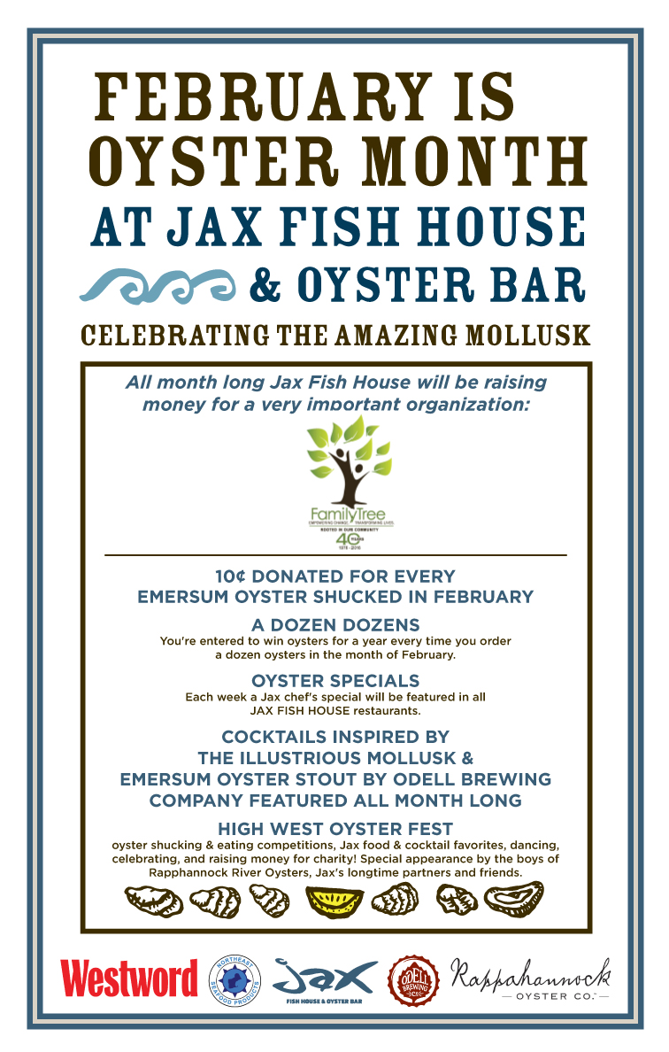 Jax fish house oystermonth poster lodo for Jax fish house kansas city