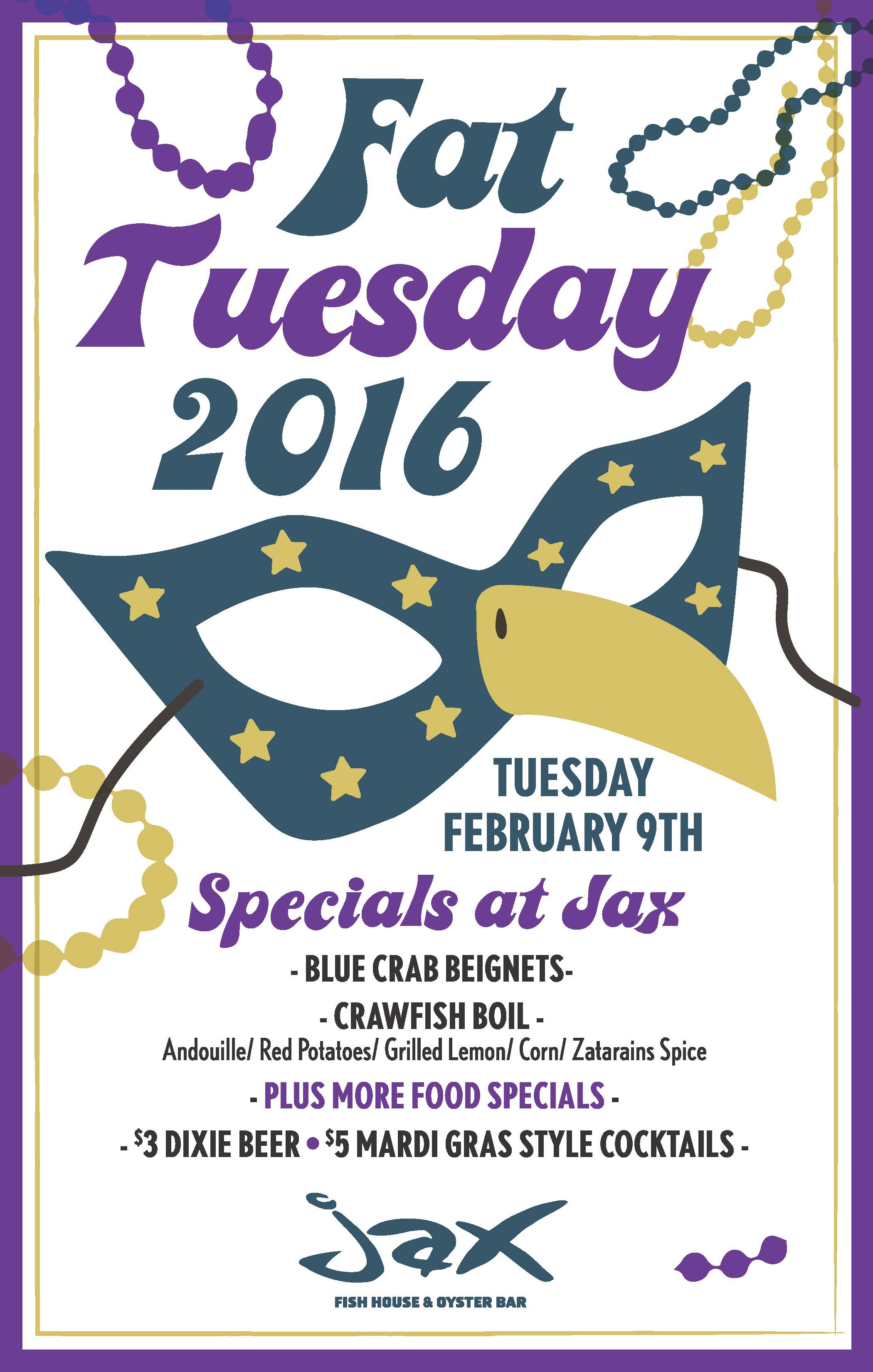 Jax fish house jaxd mardigras 2016 for Jax fish house kansas city