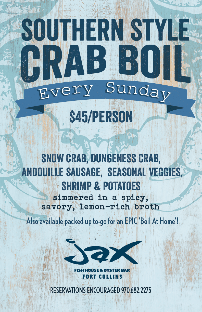 Jax Fish House | Sunday Crab Boils